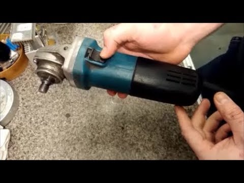 Болгарка искрит на щетках,-ремонт/MAKITA 9555NB sparks on brushes, repair