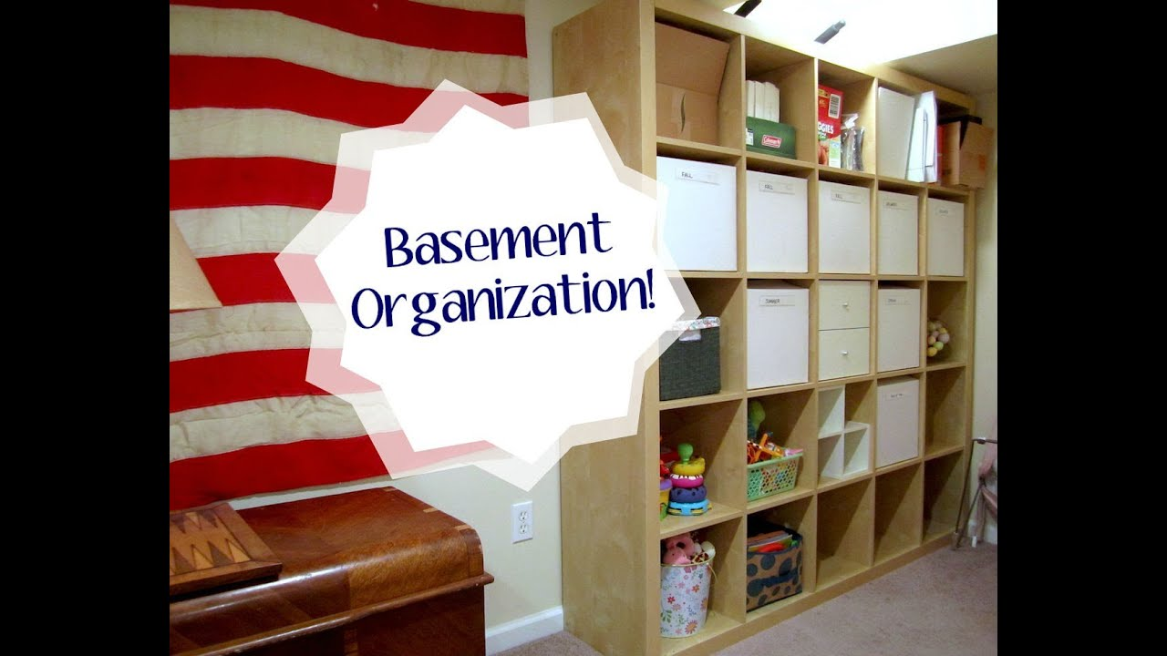 Ikea Expedit Youtube Basement Organization With The Ikea Expedit