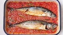 Скумрия в доматен сос на фурна - как да си приготвим? (епизод 82)