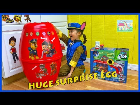 Thumbnail: HUGE PAW PATROL SURPRISE EGG Nickelodeon Toys Surprises Kinder Surprise Eggs Opening Chase Police
