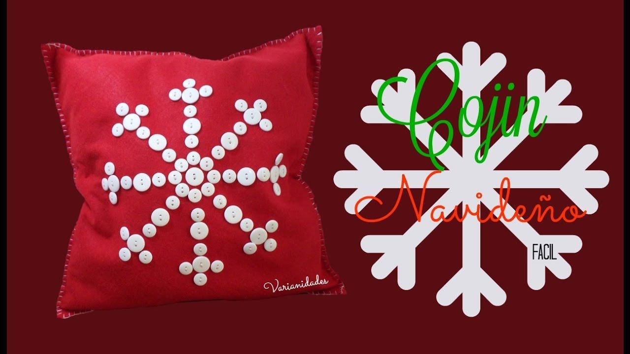 Cojines Navidad Manualidades.Cojin Copo De Nieve Fieltro Facil Varianidades D