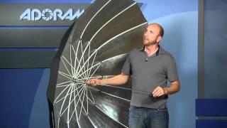 Westcott 7 Foot Parabolic Umbrella: Product Reviews: Adorama Photography TV