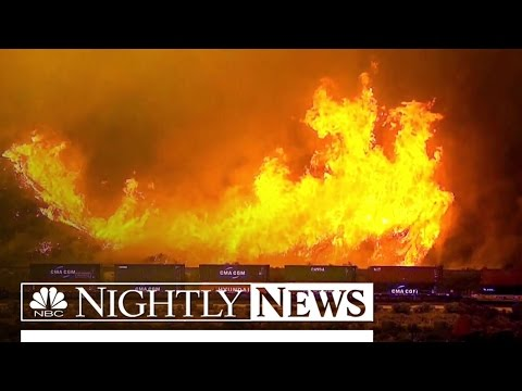 More Than 80,000 Forced to Evacuate as Wildfires Sweep California | NBC Nightly News
