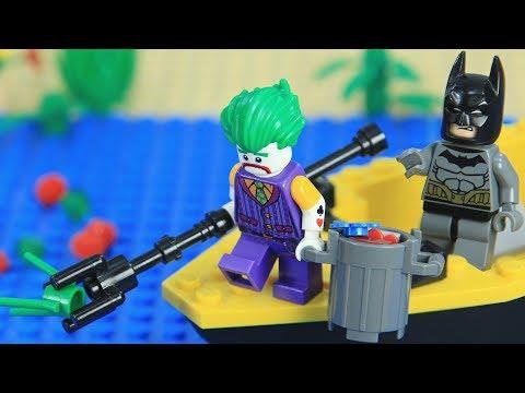 Lego Batman Shark Attack: Joker Is Shark Attacked | Brick Channel Lego Stop Motion