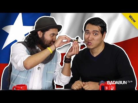 Mexicanos probando productos chilenos por...