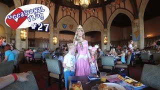 Breakfast at Cinderella's Royal Table August 2016. Occasional Vlog #27