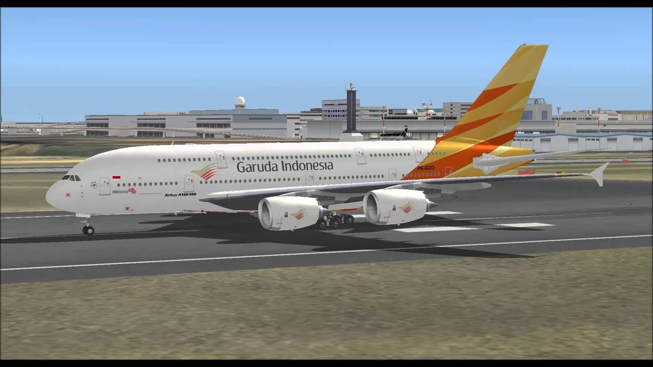 GARUDA INDONESIA AIRLINES AIRBUS A380 800 LANDING AT NEW ...