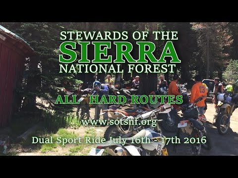 SOTSNF Dual Sport Ride 2016 All HARD Routes Part 1