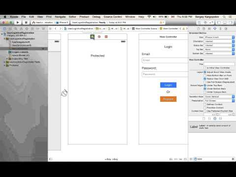 User login and register/sign up example using Swift on iOS. Video #1