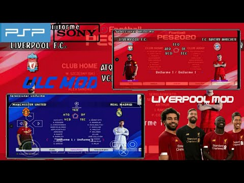 DOWNLOAD TERBARU PES 2020 PS4 LIVERPOOL  EDITION ANDROID PPSSPP GAME GRASS LURUS & ALL MINI KITS
