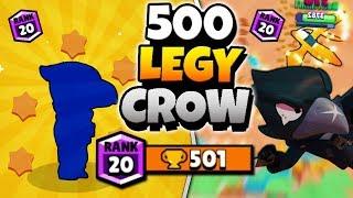 NEW LEGENDARY BRAWLER 500 TROPHY PUSH! | Brawl Stars | HIGH LEVEL LEGENDARY CROW GAMEPLAY!