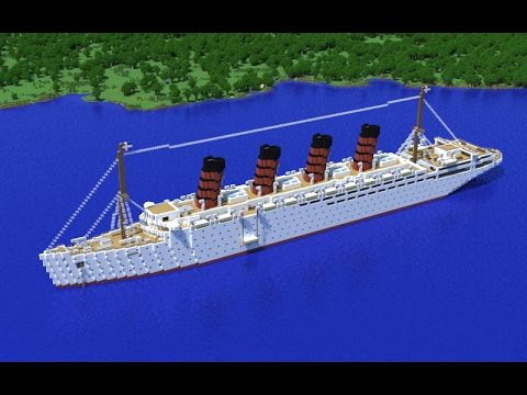 Minecraft building an ocean liner! Part 1