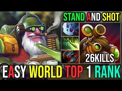 Stand And Shot [Sniper] Free Hit=EZ MMR ShutDown World Top 1 Rank 26Kills | Dota 2 FullGame