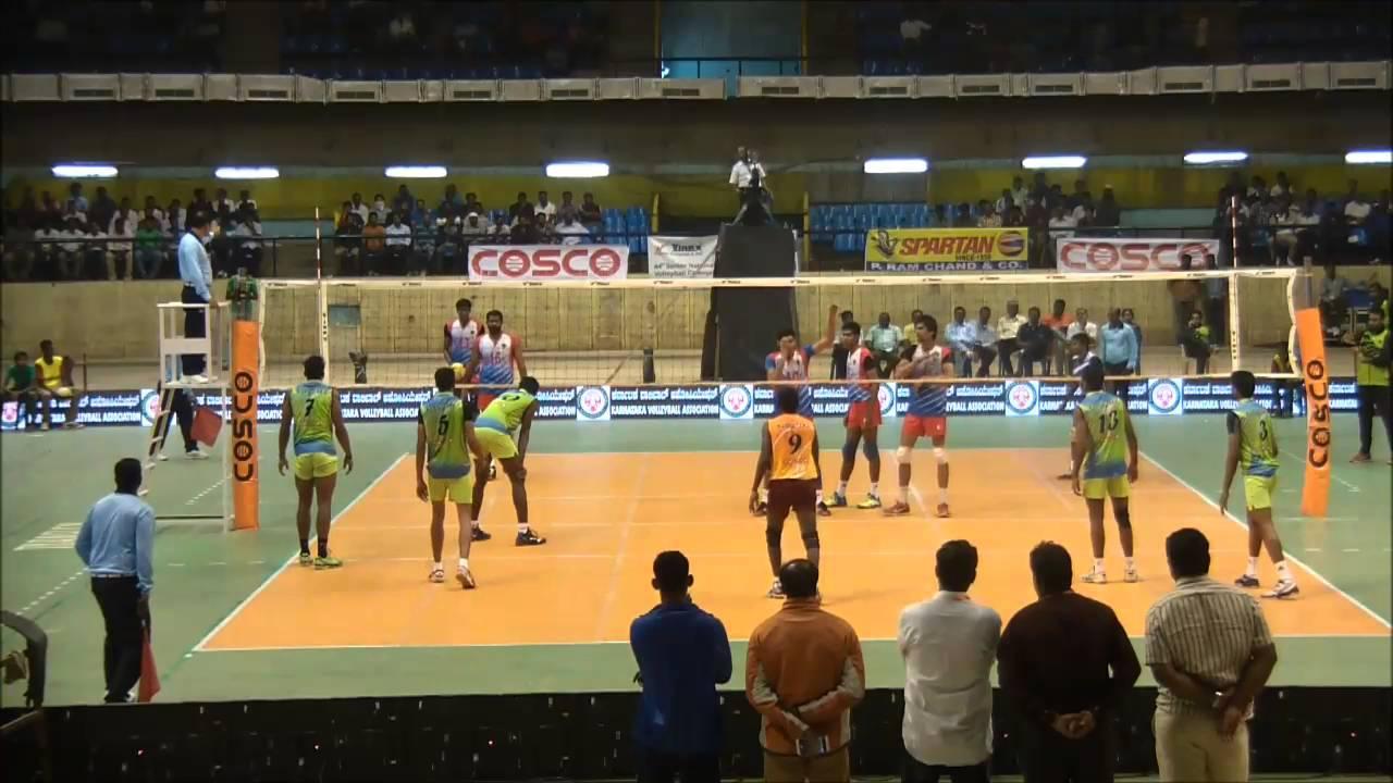 64th Indian National Volleyball Championship Qf 4 Karnataka Vs Railways Youtube