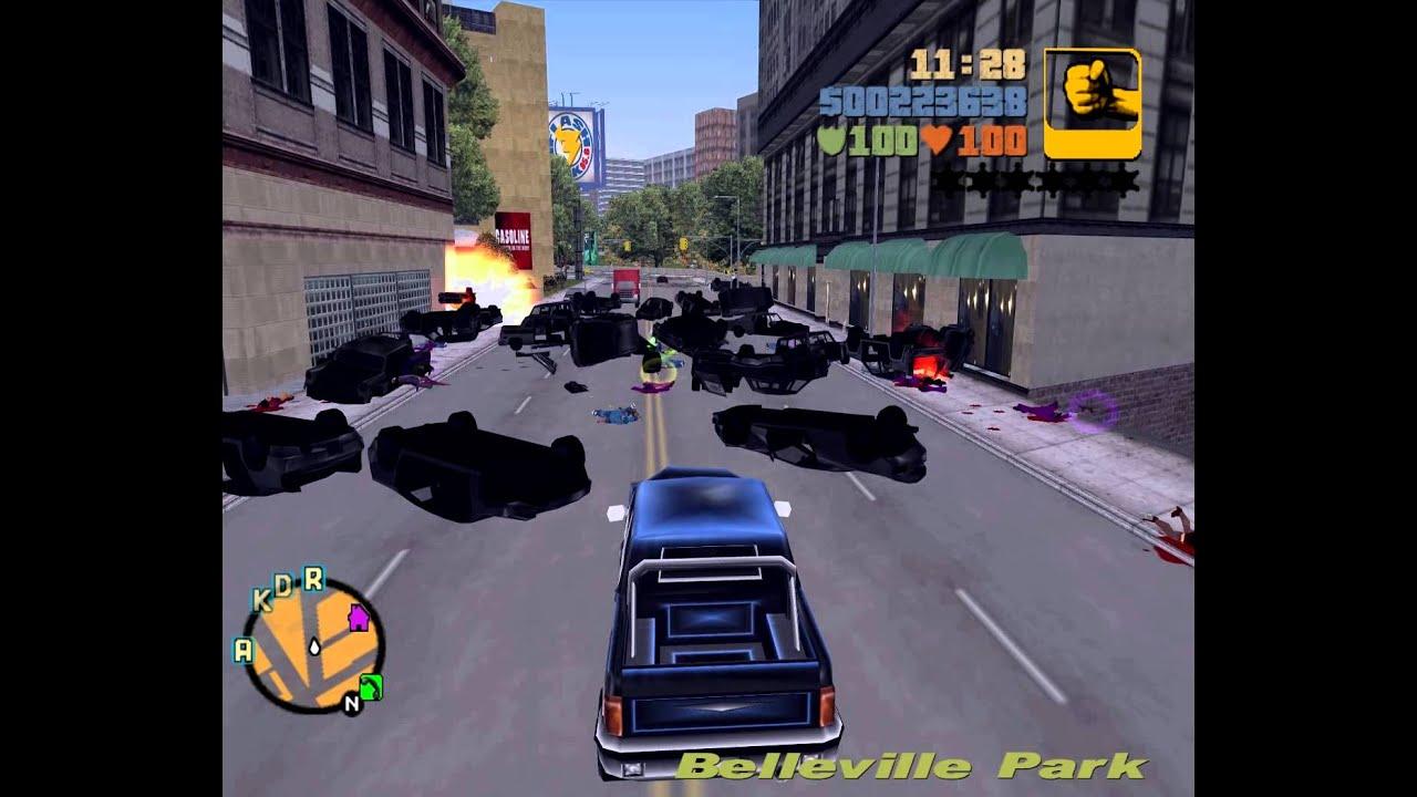Gta 3 Riot Traffic Jam Youtube
