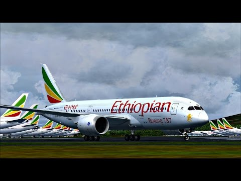 Ethiopian Immersion - Boeing 787 Dreamliner Arrival at Addis Ababa Bole International Airport (HAAB)