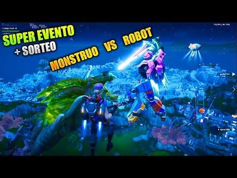 ¡BATALLA MONSTRUO VS ROBOT! EVENTO FINAL DE TEMPORADA 9 FORTNITE (+SORTEO)