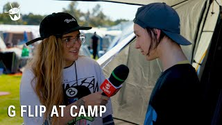 G Flip chats to the campers at triple j's One Night Stand