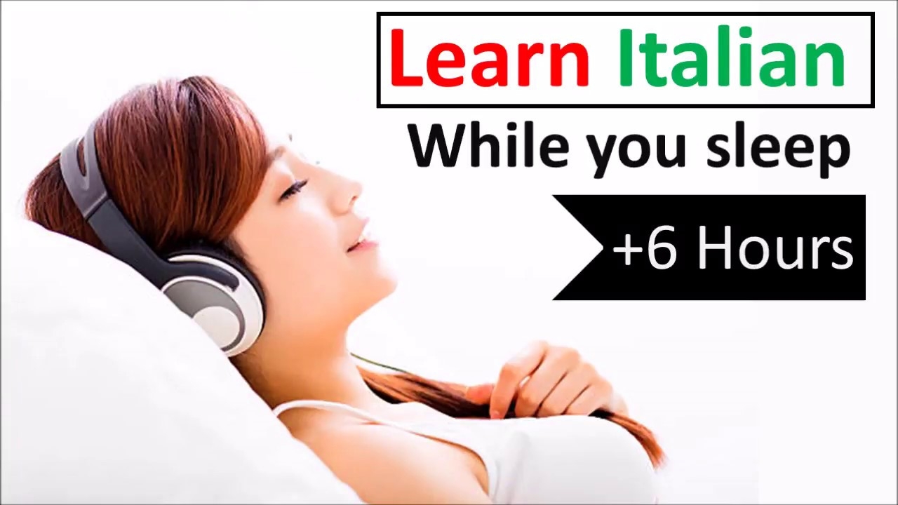 Learn Italian while you sleep ♫ 6 hours 👍 1000 Basic Words and Phrases