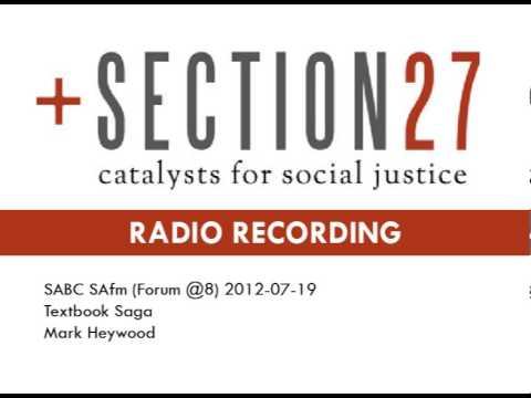 SECTION27 SAfm Forum@8 - Limpopo Textbooks