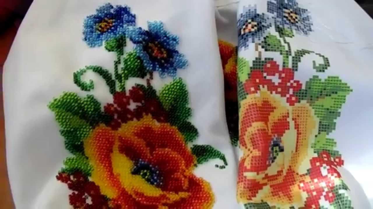 Вышивка бисером: вышиванка для доченьки готова!
