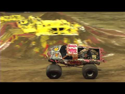 Monster Jam - Zombie & Mega Bite Monster Truck Freestyle from Indianapolis, IN - 2013