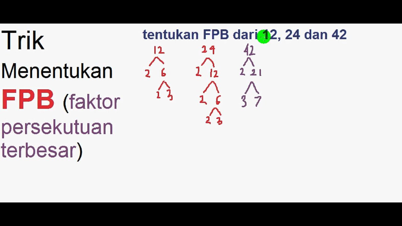 trik menentukan FPB (faktor persekutuan terbesar) - YouTube