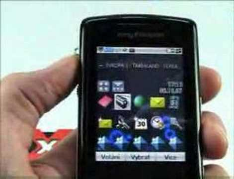 Sony Ericsson W960i 3. část