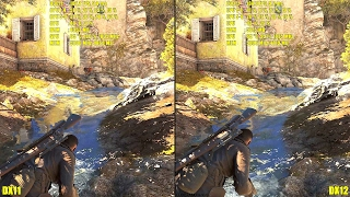 Sniper Elite 4 DX12 Vs DX11 Ultra GTX 1080 Frame Rate Comparison