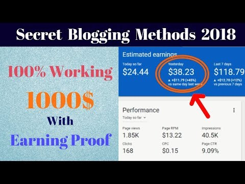 Special Blogging Methods to Earn 1000 $ per Month with Earning Proof