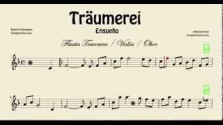 Video Traumerei Partitura de Flauta Traversa Violín y Oboe Ensueño download MP3, 3GP, MP4, WEBM, AVI, FLV Mei 2018