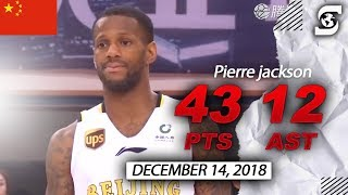 Pierre Jackson goes off 46 Points and 12 Assists China (CBA)