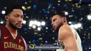 NBA 2K18 Roster : Lebron James & DerricK Rose vs Warriors | NBA FINALS Game 7