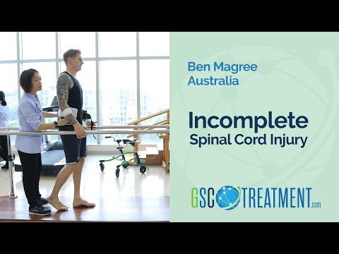 Spinal Cord Injury Patient Ben from Australia Experiences Great Improvement After Cell Therapy