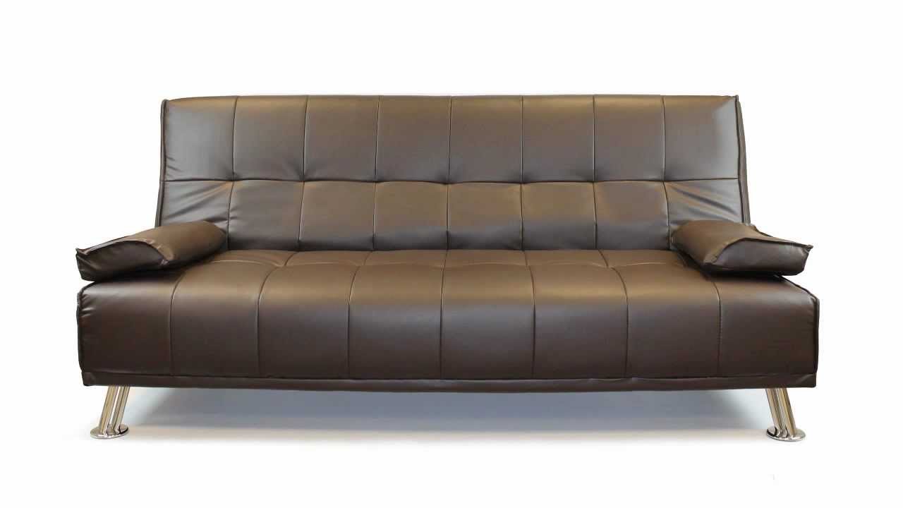 faux leather sofa bed modern designer living room furniture