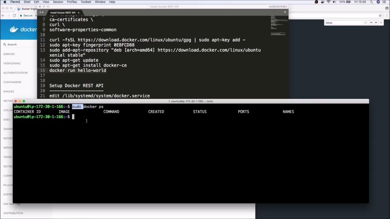 install apt-get docker