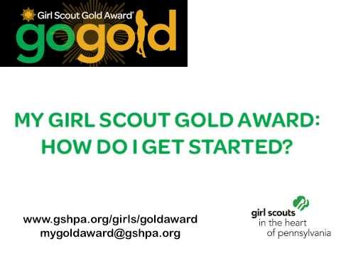My Girl Scout Gold Award: How Do I Get Started?