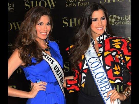 Miss Universe 2013, Gabriela Isler habla de la Miss Colombia durante su viaje oficial a Colombia