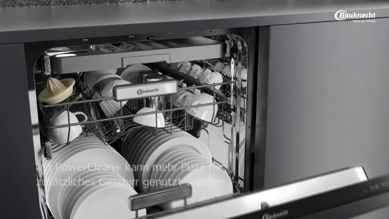bauknecht geschirrspüler mit powerclean funktion und powerdry