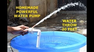 High Pressure Water Pump - How to make Powerful Water Pump at Home