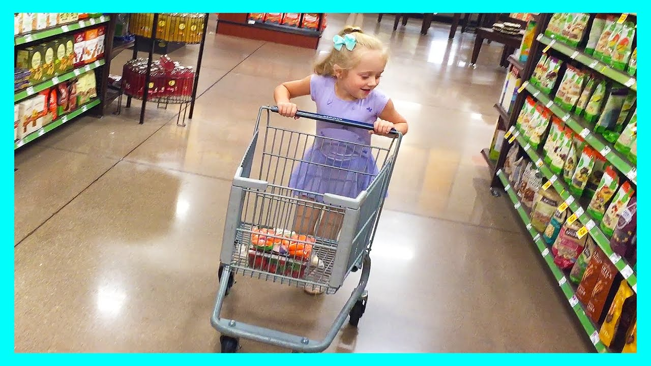 Grocery Store Shopping Trip Fun With Kid Size Shopping ...