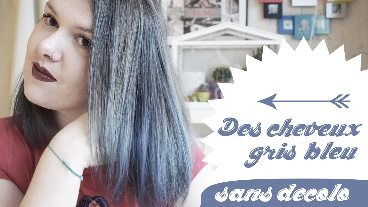 tuto navy blue and grey hair cheveux grisbleu facile sans dcoloration youtube - Shampoing Colorant Gris