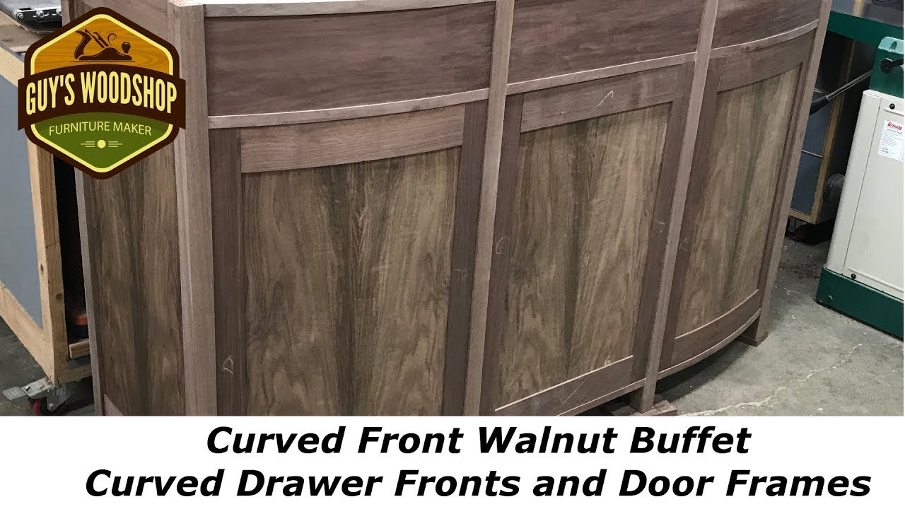 Curved Front Walnut Buffet   Curved Drawers And Door Frames Pt. 4