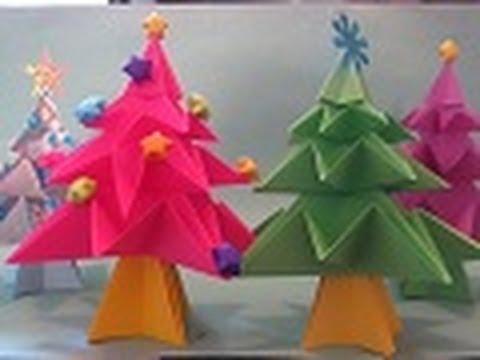 C mo hacer un arbolito de navidad en origami floritere - Como hacer cosas de navidad ...