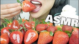 No Talking Sas Asmr I ate pineapples, watermelons, blueberries asmr candied fresh strawberry whipped cream crackling crunch eating sounds no talking sas asmr
