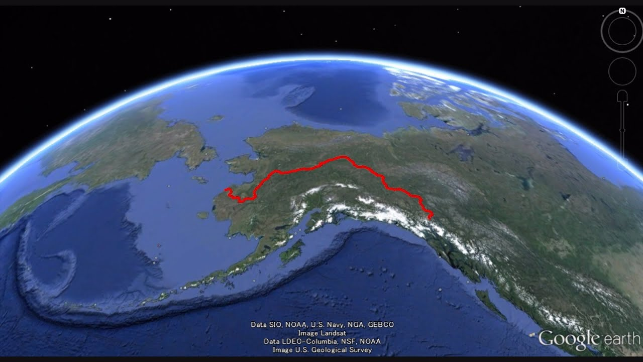 Airplane View Yukon River Source To Bering Sea In Google Map YouTube - Yukon river world map