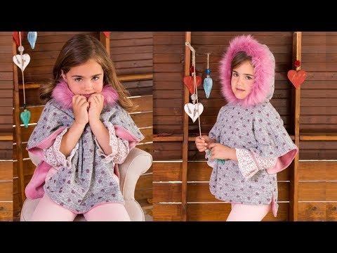 Poncho. REVISTA PATRONES INFANTILES Nº 8 YouTube