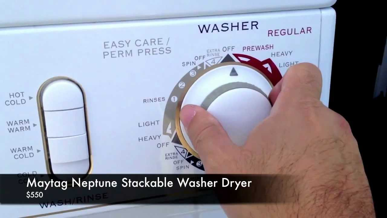 maxresdefault maytag neptune stackable washer dryer youtube  at soozxer.org