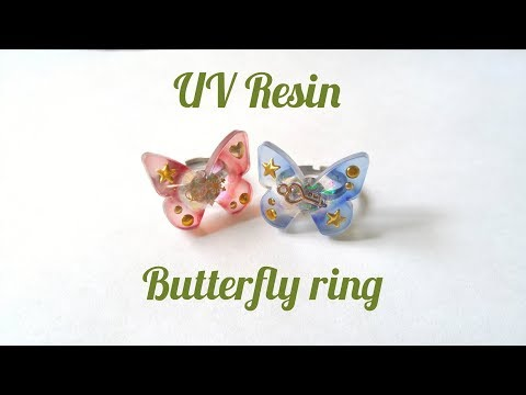 UV Resin DIY Butterfly Ring Tutorial