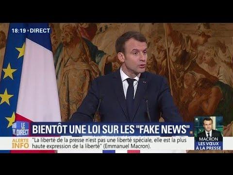 """Voeux à la presse : Macron propose """"un système de fondation entre actionnaires et rédactions"""""""